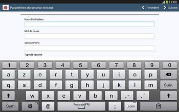 Samsung Galaxy Tab 3 10-1 LTE - E-mail - configuration manuelle - Étape 8
