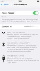 Apple iPhone iOS 9 - Wi-Fi - Como usar seu aparelho como um roteador de rede wi-fi - Etapa 7