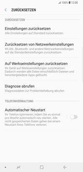 Samsung Galaxy S9 Plus - Fehlerbehebung - Handy zurücksetzen - 8 / 12