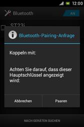 Sony Xperia Miro - Bluetooth - Geräte koppeln - Schritt 9