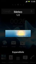 Sony Xperia J - Operazioni iniziali - Installazione di widget e applicazioni nella schermata iniziale - Fase 5
