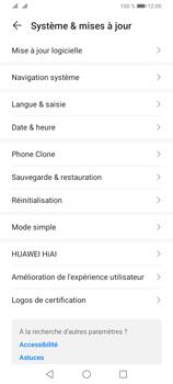 Huawei Y6P - Aller plus loin - Restaurer les paramètres d'usines - Étape 4