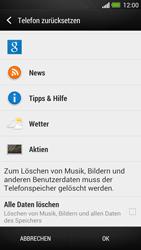 HTC One - Gerät - Zurücksetzen auf die Werkseinstellungen - Schritt 6