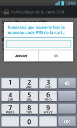 LG Optimus L5 II - Sécuriser votre mobile - Personnaliser le code PIN de votre carte SIM - Étape 10