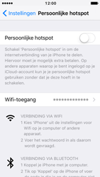 Apple iPhone 5 met iOS 10 (Model A1429) - WiFi - Mobiele hotspot instellen - Stap 4