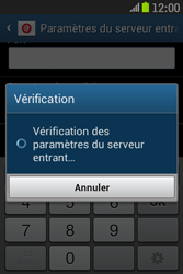 Samsung S6310 Galaxy Young - E-mail - Configuration manuelle - Étape 12