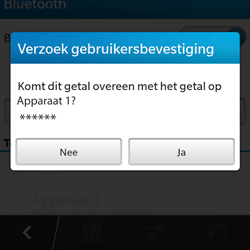 BlackBerry Q5 - bluetooth - headset, carkit verbinding - stap 8