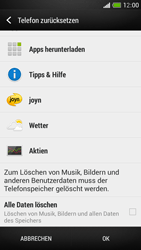 HTC One Mini - Gerät - Zurücksetzen auf die Werkseinstellungen - Schritt 6