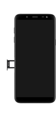 Samsung galaxy-j6-sm-j600fn-ds - Instellingen aanpassen - SIM-Kaart plaatsen - Stap 3