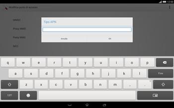 Sony Xperia Tablet Z2 LTE - MMS - Configurazione manuale - Fase 13