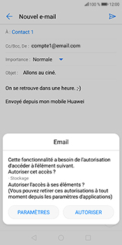 Huawei P Smart - E-mails - Envoyer un e-mail - Étape 12