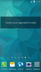 Samsung Galaxy S 5 - Operazioni iniziali - Installazione di widget e applicazioni nella schermata iniziale - Fase 7