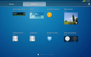 Samsung Galaxy Tab 3 10-1 LTE - Startanleitung - Installieren von Widgets und Apps auf der Startseite - Schritt 7