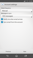 Sony Xperia Z3 Compact - E-mail - manual configuration - Step 17
