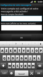 Sony ST25i Xperia U - E-mail - Configurer l