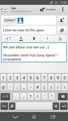 Sony E2003 Xperia E4G - e-mail - hoe te versturen - stap 10