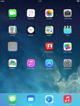 Apple iPad mini iOS 7 - Operazioni iniziali - Personalizzazione della schermata iniziale - Fase 4