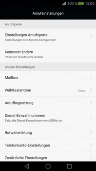 Huawei Mate S - Anrufe - Rufumleitungen setzen und löschen - Schritt 5