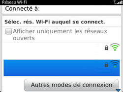 BlackBerry 9320 - Internet et connexion - Accéder au réseau Wi-Fi - Étape 6