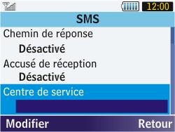 Samsung S3570 Chat 357 - SMS - configuration manuelle - Étape 6