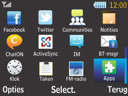 Samsung S3570 Chat 357 - bluetooth - aanzetten - stap 3