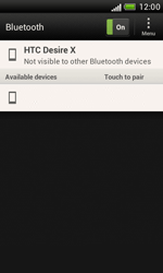 HTC Desire X - Bluetooth - Connecting devices - Step 7