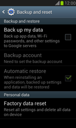 Samsung Galaxy S III Mini - Mobile phone - Resetting to factory settings - Step 5
