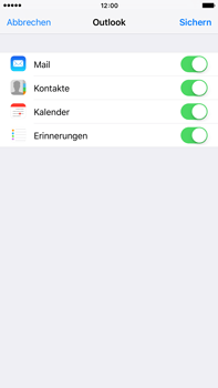 Apple iPhone 6s Plus - E-Mail - Konto einrichten (outlook) - Schritt 8