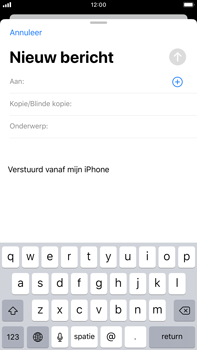 Apple iPhone 8 Plus - iOS 13 - E-mail - e-mail versturen - Stap 3