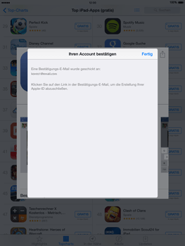 Apple iPad Air iOS 8 - Apps - Einrichten des App Stores - Schritt 26