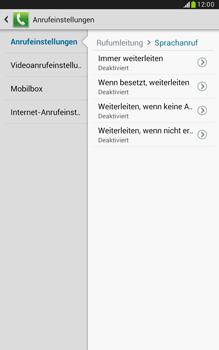 Samsung N5100 Galaxy Note 8-0 - Anrufe - Rufumleitungen setzen und löschen - Schritt 8