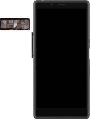 Sony Xperia L3 - SIM-Karte - Einlegen - Schritt 3