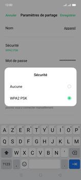 Oppo A15 - Internet et connexion - Partager votre connexion en Wi-Fi - Étape 8