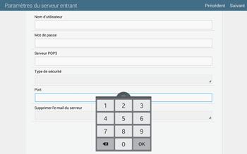 Samsung T805 Galaxy Tab S - E-mail - configuration manuelle - Étape 10