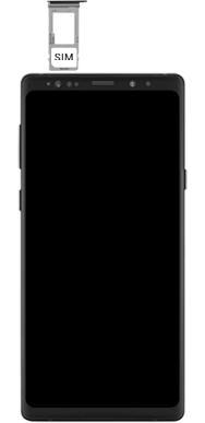 Samsung galaxy-note-9-sm-n960f-android-pie - Instellingen aanpassen - SIM-Kaart plaatsen - Stap 4