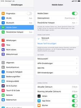 Apple iPad Pro 9.7 - iPadOS 13 - Internet und Datenroaming - Prüfen, ob Datenkonnektivität aktiviert ist - Schritt 5