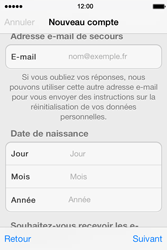Apple iPhone 4 S iOS 7 - Applications - Créer un compte - Étape 14