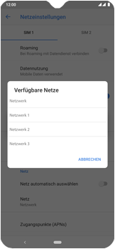 Nokia 7.2 - Netzwerk - Manuelle Netzwerkwahl - Schritt 11