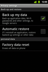 Alcatel OT-983 - Mobile phone - resetting to factory settings - Step 6