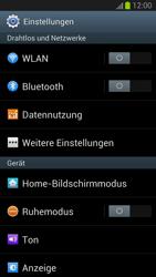 Samsung I9300 Galaxy S3 - Netzwerk - Netzwerkeinstellungen ändern - Schritt 4