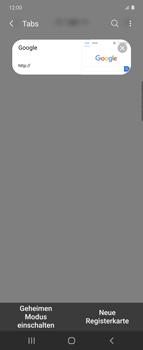 Samsung Galaxy Z flip - Internet und Datenroaming - Verwenden des Internets - Schritt 18