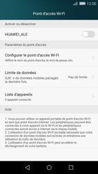 Huawei P8 Lite - Internet et connexion - Partager votre connexion en Wi-Fi - Étape 6