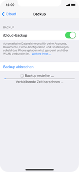 Apple iPhone X - Software - Eine iCloud-Sicherheitskopie erstellen und an ein neues Gerät übertragen - 1 / 1