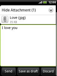 HTC A3333 Wildfire - E-mail - Sending emails - Step 12