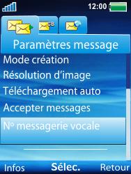 Sony W100i Spiro - Messagerie vocale - Configuration manuelle - Étape 6