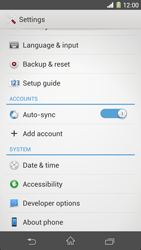 Sony Xperia Z1 - Software - Installing software updates - Step 5