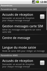 Samsung I5700 Galaxy Spica - SMS - configuration manuelle - Étape 5