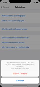 Apple iPhone X - Aller plus loin - Restaurer les paramètres d'usines - Étape 7