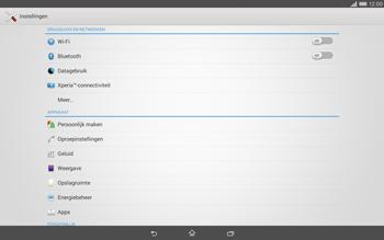 Sony Xperia Tablet Z2 (SGP521) - Internet - aan- of uitzetten - Stap 4