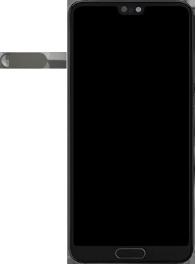 Huawei P20 - Android Pie - SIM-Karte - Einlegen - Schritt 2